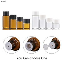 1 ml 2ml 3 ml 5 ml bursztynowy szkło butelka oleju perfumy próbki butelki małe puste szklane butelki do domu zapachy dyfuzory BH2656 DBC