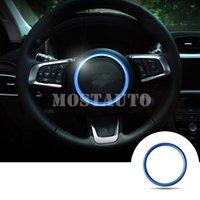Intérieure Volant Paillettes Couverture Garniture pour Jaguar F-Pace X761 XE X760 XF X260 Bleu / Argent / Rouge