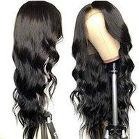 Frente del cordón de la onda del cuerpo de la peluca pelucas del pelo humano para las mujeres Negro 360 encaje frontal de la peluca de Remy 13x6 del frente del cordón del pelo humano PrePlucked