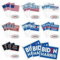 Joe Biden Harris Hand Flag US President Biden Harris 14*21cm Election Flag American Hand Flag 10pcs lot Hand Flags CCA12467 30lot