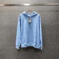 Moda Mens Hoodies Homens Mulheres elegante casaco azul Famoso Mens alta qualidade da onda de stripe impressão Moletons XS-L