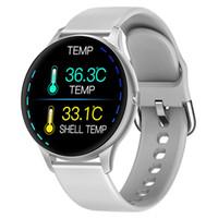 Vücut Sıcaklığı Kalp atış hızı Tansiyon Oksijen ile su geçirmez K21 CACGO Akıllı İzle 1.3 inç Full Yuvarlak Ekran