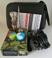 Nouveau dispositif 10 Dnail Vaporizer Couleurs Dab Enail BOX Quatz verre titane Enail Contrôle de la température Mod Kit pour le concentré CIRE