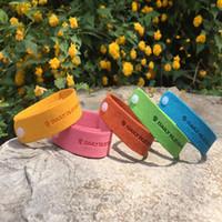Mosquito repelente pulseiras pulseiras anti mosquito natural natural não-tóxico adultos naturais puros e faixa de pulso de crianças cores misturadas DHL grátis