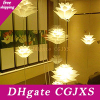 Lustre Lotus diy Iq Puzzle Pendant Light Décor Ceiling Light Art Abat Couleur Blanc HighQuality