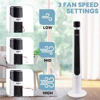 Turmgefan oszillierend mit Fernbedienung für Home Office-Fan Blattloser Turm-Fan-Kühlung 3-Gang 3-Modus Windzeitluftkühler W35413485