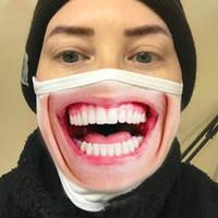 Lustige 3D Expression Gesichtsmaske Staubdicht Fashion Printing Cotton Masken Waschbar Wiederverwendbare Cycling Maske Designer Luxus-Gesichtsmaske