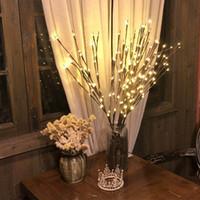 Luzes florais 20 LED LED Willow Filial Lamp festa de Natal Início Decor Jardim luz romântica para o casamento Bar