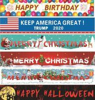 Bandeira Trump 2020 Bandeira Eleição 3 * 0.5m bandeira do partido da decoração do Natal Feliz Natal do feriado do Dia das Bruxas Pull Flags por mar navio GGA3677