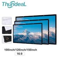 شاشات الإسقاط Thundeal 100 120 150 بوصة المحمولة 16: 9 LED العارض White Starning Screen Movie