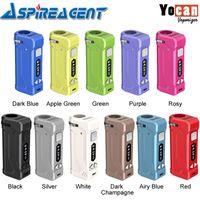 100% original yocan uni pro vv caixa mod embutido 650mah baterizante bateria com 10s pré-aquecer a altura de disco ajustável para tanques