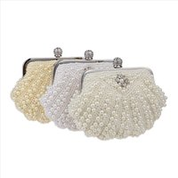 Men Wallets With Coin Phone Pocket Purse Card Women Fashion Pearl Evening Handbag Party Clutch Purse Shoulder Cross 524