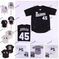 NCAA College Michael Jodan # 45 Birmingham Barons 야구 유니폼 프랭크 35 Thomas Jersey Stitched Michael Birmingham Barons 야구 셔츠