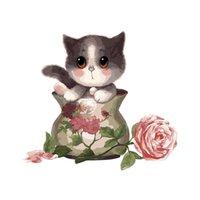 16x20 «» Красочные краски по номерам Прекрасные кошки масло холст картины для домашнего декора стены