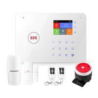 Systèmes d'alarme 2.4 pouces TFT Screen WIFI GSM Home Home Burglar Kits Système de sécurité sans fil Détecteur de mouvement Contrôle de l'application