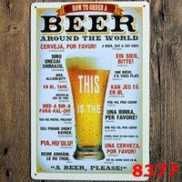 Bar Bar Metal Lata Sinal Cerveja Vinho Metal Poster Vintage Artesanato Arte Adesivo de Ferro Pintura Home Restaurante Decoração Pub Sinais Decoração de Parede YFA2452
