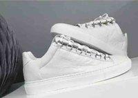 الجملة مع صندوق رجل سببية الأحذية الساحة يتجعد جلد قليلة قص الأبيض الأحمر الأسود أولي مصمم أزياء أحذية أسود أبيض حجم 39-46