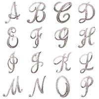 A-Z Jewelry 26 diamante inglese Lettera Spilla Lepal Pins iniziale di cristallo spilla moda per le donne gli uomini