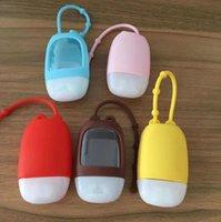 만화 30ML 손 소독제 병 홀더 세트 향수 병 실리콘 보호 커버 병 키 체인 가방 늘어 뜨린 DHL E92107을 매달려