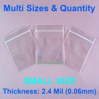 """Мульти Размеры Количество 2,4 мили Поли молнии мешки небольшой размер дюймов (1.5"""" - 4 """") х (2,5"""" - 6"""" ) Пластиковые упаковки (от 40 до 100 мм) х (от 65 до 150 мм)"""