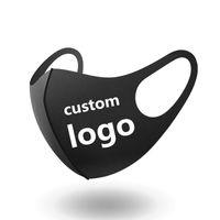Дизайнер маска Пользовательские LOGO персонализированный черный Anti Dust Face хлопок Маска для велоспорта палаточного путешествия Маска Анти Хлопок Многоразовые
