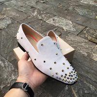 Tasarımcı Womens Düğün Elbise Dikenler Kırmızı Alt loafer'lar Ayakkabı Parlak Mocassin İş Casual Oxford Yürüyüş Ayakkabı Boyut 35-47