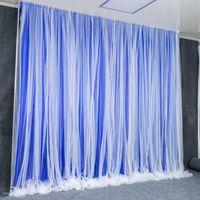 Mariage Props décoration fond métal Arc Voile scène Zone d'accueil Tissu rideau neige Mur de fond fil