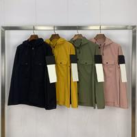 Moda Erkek Stilist Ceket Yüksek Kalite Erkek İşleme Ceket Erkekler Kadınlar Uzun Kollu İpli Kapşonlu Ceket