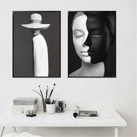 Pósteres de Anime abstracto, cuadro par Pared sobre lienzo, Retrato de mujer, de Pintura Decorativa Porche, Pintura para dormitorio, Peinture murale