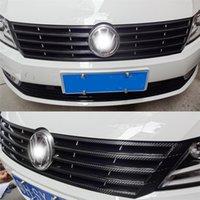 مركز السيارات التصميم 3D / 5D ألياف الكربون سيارة الداخلية حدة تغير لون صب لاصق ملصق مائي لفولكس واجن فولكس فاجن CC 2012-2018