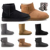 2020 Chaussures femmes d'hiver dames Bottes de neige Bottes Australia Women Outdoor Boot vache en cuir Bottines plus velours pour garder au chaud en hiver