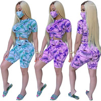 Shorts Print 2 Piece Set Female Clothing Womens 2020 Luxury ...