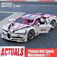 Mini-Blöcke 20086 Technisches Auto Modell Toythe Rosa Race Race Car Set Montage Ziegel Pädagogische Kinder Auto Kinder Weihnachtsgeschenk