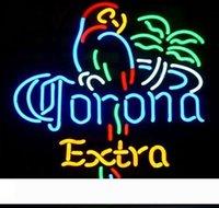 Muestra de neón signos de luz LED Corona Birld luz de neón de la cerveza signos Barra de la muestra real de cristal luz de neón de la cerveza de sesión