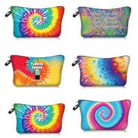 quente Tie-dye Cosmetic Bag portátil de viagens de maquiagem impresso bolsa de armazenamento sacos de viagem Organizador Pouch Wash Bolsas T2D5071