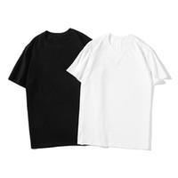 유명한 남성 고품질 T 셔츠 편지 인쇄 라운드 넥 짧은 소매 검정색 흰색 패션 남자 여성 고품질 티셔츠