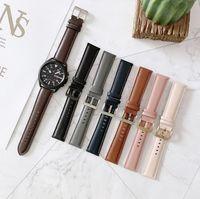 삼성 갤럭시 시계 3 45mm 41mm Smartwatch 밴드를위한 도매 가죽 스트랩 삼성 갤럭시 시계 활성 2 시계 밴드 교체 팔찌