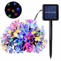 Pêssego Flor Lâmpada Solar Lâmpada LED Gadget String Fairy Luzes 6V Solar Garlandas Jardim Decoração de Natal para Exterior