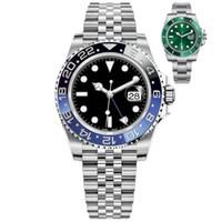 LMJLI-U1 Herrenuhren 40mm Automatische mechanische Uhr Edelstahl Blau Schwarz Keramik Saphir Armbanduhren Super leuchtend Montre de luxe