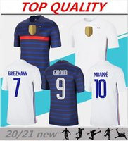الرجال 2020 2021 قمصان كرة القدم MBAPPE GRIEZMANN POGBA كرة القدم جيرسي 20/21 مايوه دي القدم FR المنزل بعيدا camisas دي futebol