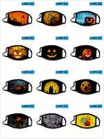 mascarilla 100pcs Máscara de Halloween para adultos niños Navidad de la manera impresión 3D Anti-polvo Máscara lavable y transpirable