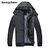NaranjaSabor New Men's Winter Jacket Mens Hooded Loose Casual Coat Thick Warm Outwear Windproof Male Brand Clothing M~4XL N582
