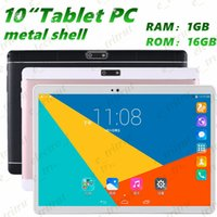 10 pulgadas Tablet PC de metal shell MTK6582 Quad Core Android 5.1 de doble tarjeta de llamada 3G 1280 Pantalla de visualización * 800 IPS HD de doble cámara de 1GB 16GB MQ20