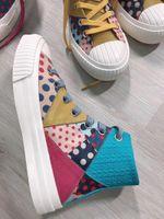 Mujeres Zapatos Casual señoras de la moda retro agua en los zapatos de lona a prueba de cuero genuino de los zapatos ocasionales caja incluida mejor regalo
