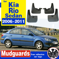 para KIA Rio 2 JB sedán Berlina 2006 ~ 2011 coches Mudfla Fender Mud Flaps Guardia Splash Flap Guardabarros Accesorios 2007 2008 2009 2010