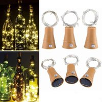 CRESTECH DIY Cork Luz Cordas 10 Wine Solar LED Bottle Stopper Fada Faixa de cobre partido exterior fio Decoração novidade Lamp Noite