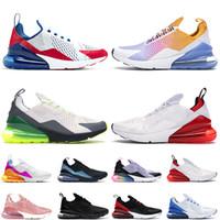 Nike Air Max 270 Stok 270S Atletizm Erkek Açık Yaz Gradyan Platin Volt üçlü siyah Kadın Erkek Eğitmenler Spor Sneakers Ayakkabı Koşu x