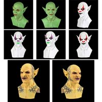 Хэллоуин новый желтый маленький призрак маска головной убор Demon клоун вампир орк маски Хэллоуин день рождения смешной маски Dropshipping F2801