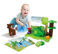 100pcs Larger particles building blocks DIY children popular science educational toys I love the zoo puzzle assembling creative gift 03