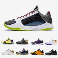 Kobe Bryant 2020 Kaos II Big Stage 5 Proto Erkek Basketbol ayakkabıları Metalik Altın Alternatif Bruce Lee LA 5s Prelude erkek eğitmenler spor ayakkabı 7-12